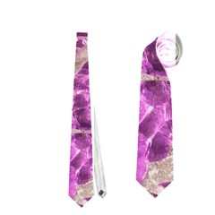 Festive Chic Pink Glitter Stone Neckties (Two Side)