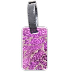Festive Chic Pink Glitter Stone Luggage Tags (Two Sides)