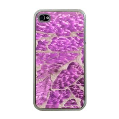 Festive Chic Pink Glitter Stone Apple iPhone 4 Case (Clear)