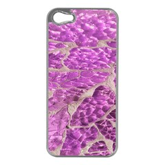Festive Chic Pink Glitter Stone Apple iPhone 5 Case (Silver)
