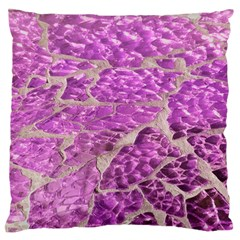 Festive Chic Pink Glitter Stone Large Flano Cushion Case (Two Sides)
