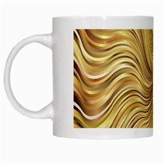 Chic Festive Elegant Gold Stripes White Mugs