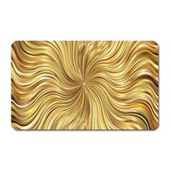Chic Festive Elegant Gold Stripes Magnet (Rectangular)