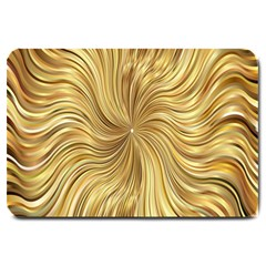 Chic Festive Elegant Gold Stripes Large Doormat