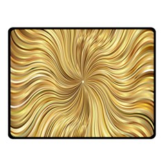 Chic Festive Elegant Gold Stripes Fleece Blanket (small)