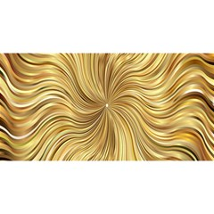 Chic Festive Elegant Gold Stripes YOU ARE INVITED 3D Greeting Card (8x4)