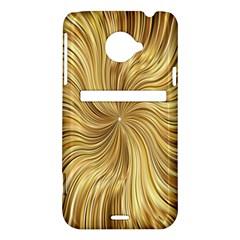 Chic Festive Elegant Gold Stripes HTC Evo 4G LTE Hardshell Case