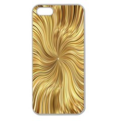 Chic Festive Elegant Gold Stripes Apple Seamless iPhone 5 Case (Clear)