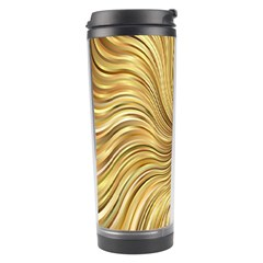 Chic Festive Elegant Gold Stripes Travel Tumbler