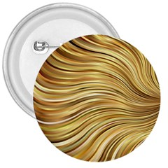 Chic Festive Gold Brown Glitter Stripes 3  Buttons
