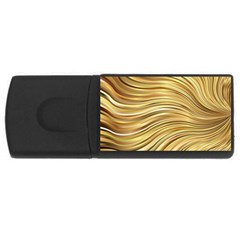 Chic Festive Gold Brown Glitter Stripes USB Flash Drive Rectangular (1 GB)