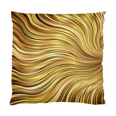 Chic Festive Gold Brown Glitter Stripes Standard Cushion Case (Two Sides)