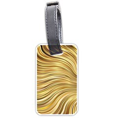 Chic Festive Gold Brown Glitter Stripes Luggage Tags (Two Sides)
