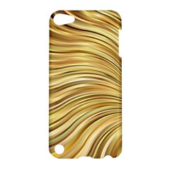 Chic Festive Gold Brown Glitter Stripes Apple iPod Touch 5 Hardshell Case