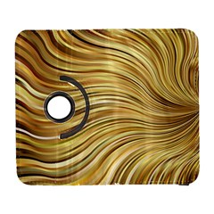 Chic Festive Gold Brown Glitter Stripes Samsung Galaxy S  III Flip 360 Case