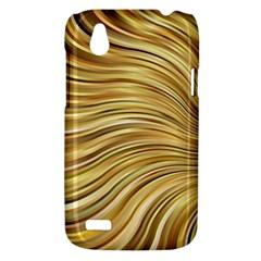 Chic Festive Gold Brown Glitter Stripes HTC Desire V (T328W) Hardshell Case