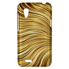 Chic Festive Gold Brown Glitter Stripes HTC Desire VT (T328T) Hardshell Case
