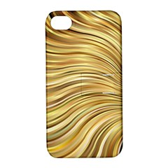 Chic Festive Gold Brown Glitter Stripes Apple iPhone 4/4S Hardshell Case with Stand