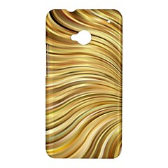 Chic Festive Gold Brown Glitter Stripes HTC One M7 Hardshell Case