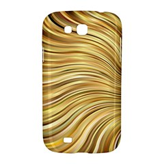 Chic Festive Gold Brown Glitter Stripes Samsung Galaxy Grand GT-I9128 Hardshell Case