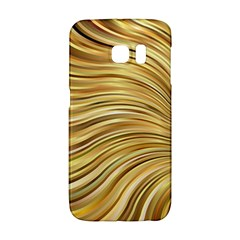 Chic Festive Gold Brown Glitter Stripes Galaxy S6 Edge