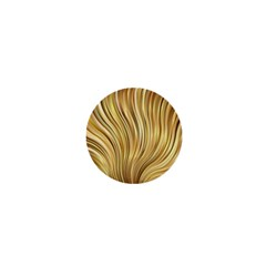 Gold Stripes Festive Flowing Flame  1  Mini Magnets