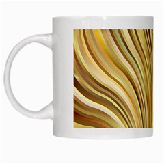 Gold Stripes Festive Flowing Flame  White Mugs