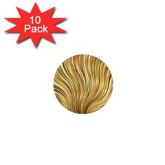 Gold Stripes Festive Flowing Flame  1  Mini Magnet (10 pack)