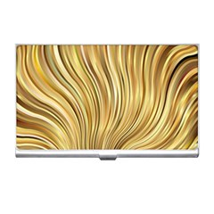 Gold Stripes Festive Flowing Flame  Business Card Holders