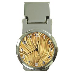 Gold Stripes Festive Flowing Flame  Money Clip Watches