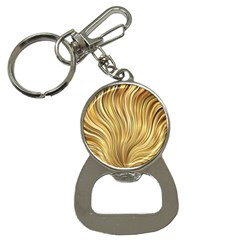 Gold Stripes Festive Flowing Flame  Bottle Opener Key Chains