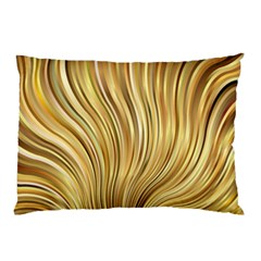 Gold Stripes Festive Flowing Flame  Pillow Case