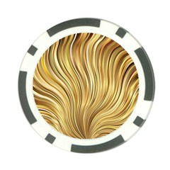 Gold Stripes Festive Flowing Flame  Poker Chip Card Guards (10 pack)