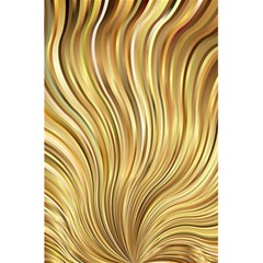 Gold Stripes Festive Flowing Flame  5.5  x 8.5  Notebooks