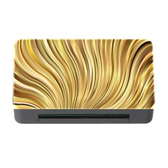 Gold Stripes Festive Flowing Flame  Memory Card Reader with CF