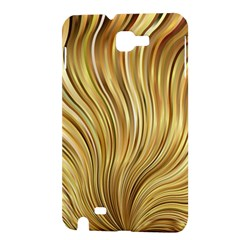 Gold Stripes Festive Flowing Flame  Samsung Galaxy Note 1 Hardshell Case