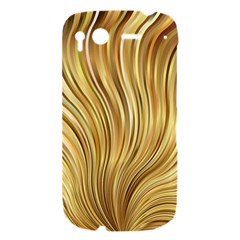 Gold Stripes Festive Flowing Flame  HTC Desire S Hardshell Case