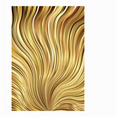 Gold Stripes Festive Flowing Flame  Small Garden Flag (Two Sides)
