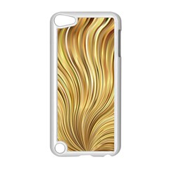 Gold Stripes Festive Flowing Flame  Apple iPod Touch 5 Case (White)