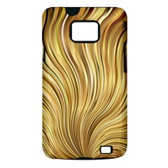 Gold Stripes Festive Flowing Flame  Samsung Galaxy S II i9100 Hardshell Case (PC+Silicone)