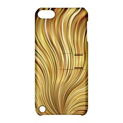 Gold Stripes Festive Flowing Flame  Apple iPod Touch 5 Hardshell Case with Stand