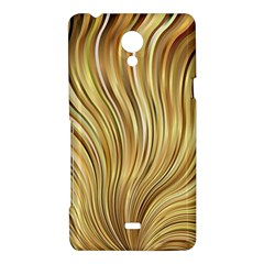 Gold Stripes Festive Flowing Flame  Sony Xperia T