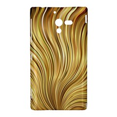 Gold Stripes Festive Flowing Flame  Sony Xperia ZL (L35H)