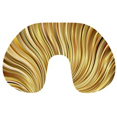 Gold Stripes Festive Flowing Flame  Travel Neck Pillows