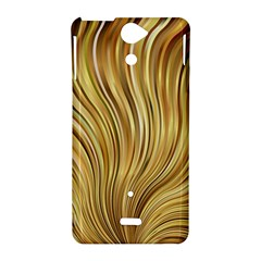 Gold Stripes Festive Flowing Flame  Sony Xperia V