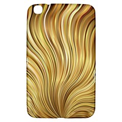 Gold Stripes Festive Flowing Flame  Samsung Galaxy Tab 3 (8 ) T3100 Hardshell Case