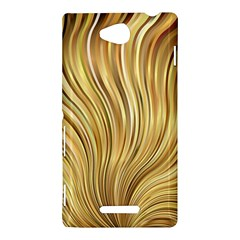 Gold Stripes Festive Flowing Flame  Sony Xperia C (S39H)