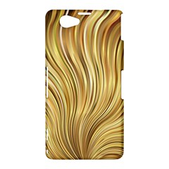 Gold Stripes Festive Flowing Flame  Sony Xperia Z1 Compact