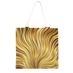 Gold Stripes Festive Flowing Flame  Grocery Light Tote Bag