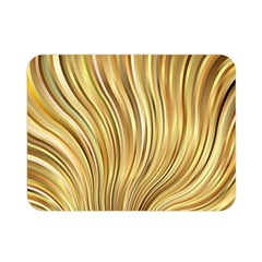 Gold Stripes Festive Flowing Flame  Double Sided Flano Blanket (Mini)
